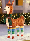 Tinsel Llama Sculpture Christmas Holiday Indoor Outdoor Lighted 36 Tall Yard