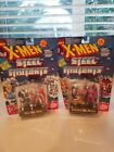 1994 Toy Biz X Men Set of 2 Steel Mutants Professor X Magneto Stryfe Cable