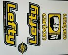 Sticker Decal Set for Old Style Cannondale Lefty ELO Carbon Yellow and Chrome