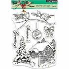 Penny Black Snowy Cottage Clear Stamp Set 30 515 New