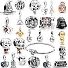 925 Sterling Silver Harry Potter Star Wars Charms fit Pan Charm bracelet NEW