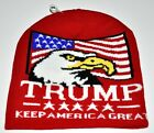 Trump Eagle Flag Keep America Great Red Knit Stocking Hat Beanie Soft New!!
