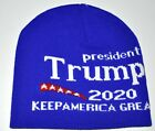 Trump 2020 Keep America Great Royal Blue Knit Stocking Hat Beanie Soft New!!