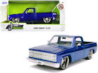 1985 Chevrolet Silverado C 10 Pickup Candy Blue 124 Model Jada 30287