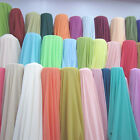 60 yards Chiffon Fabric 60 Wide Roll Sheer Draping Wedding Party USA 40 COLORS