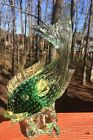 MURANO STYLE GOLD FLAKE CONTROLLED BUBBLES FISH 12 Tall
