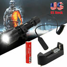 Red Green White LED Flashlight 6000LM Hunting Tactical Torch 20mm Weaver Rail US