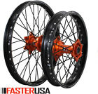 KTM WHEEL SET KTM300EXC MXC 03-14 EXCEL A60 RIMS FASTER USA HUB BLACK SPOKES NEW