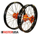 WHEEL SET KTM 525/520 EXC MXC 00-10 EXCEL RIMS FASTER USA HUBS NEW MADE IN USA