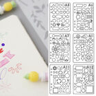 24 Pcs Bullet Journal Stencil Plastic Planner DIY Drawing Template Diary Crafts