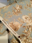 Blue French Toile Upholstery Fabric Waverly Inspirations Screen Print 55 yd