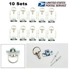 10 Sets Motorcycle Quick Release 1/4 Turn Race Fairing  Fasteners Rivet 17MM -US