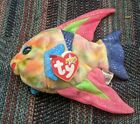 TY BEANIE BABIES BABY ARUBA COLORFUL ANGEL FISH PLUSH 2000 RARE EXCLENT