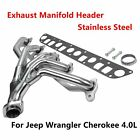 TUBULAR EXHAUST MANIFOLD HEADER NEW FOR JEEP WRANGLER CHEROKEE 40L TJ SS