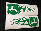 John Deere Flame Decals Stickers 2.6 X 8 For Mower Car Truck