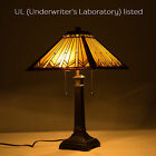 UL Listed Tiffany Style Table Lamp Art Glass Geometry Shape Desk Lamp