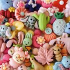 15pc Mixed Resin Embellishment Charms Flatback Cabs DIY Crafts Bows Scrapbook