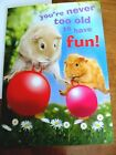 NEW Birthday Card Two Hamsters on Bouncy Balls Youre Never Too Old to Have Fun