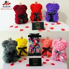 Valentine Gift Flower Teddy Bear 25cm Artificial Decoration Rose LED USA STOCK