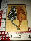 Two cats Tangled tails in love inkadinkado B7woodenrubberstamp