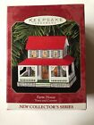 TOWN and COUNTRY Pressed tin FARM HOUSE Hallmark Ornament Series 1999