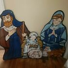 VINTAGE Lawn Life Size Nativity Set True To Nature Christmas
