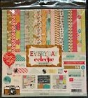 Echo Park Everyday Eclectic Scrapbooking Paper kit 12x12 12 sheets New