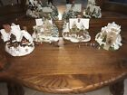 4 Lilliput Lane Cottages Snow Winter Christmas Deer Park Vicarage Yuletide St. N