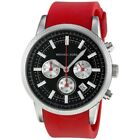 Michael Kors Scout MK8239 Chronograph SS Black Face Red Silicone Strap Watch