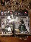 2 McFarlane NFL DREW BREES LOT New Orleans Saints TRU ELITE Exclusive Toys R Us
