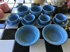 Lovely Menagerie Fiesta Ware Periwinkle Blue Four Size~Bowls~Custards~13 Pieces