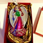WATERFORD HOLIDAY HEIRLOOM AVA ANGEL 6 ORNAMENT WITH HANGING RIBBON IN BOX