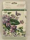 Waverly Garden Room Sweet Violets Wall Paper Border 15 Feet New