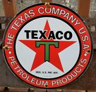 VINTAGE 1933 TEXACO PORCELAIN GAS SERVICE STATION PUMP SIGN MOTOR OIL RED STAR