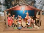 Vintage Sears 13 Pc Nativity Set Japan Music Box Light 10 Pcs of Figurines