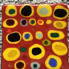Contemporary Fused Art Glass Handmade 85 Square Tray