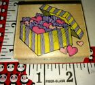 Yellow and purple box of hearts hero arts 86woodenrubberstamp