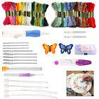DIY Embroidery Pen Knitting Sewing Tool Kit Punch Needle With 50 Threads Kit