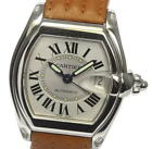 CARTIER Roadster 2510 Date Silver Dial Automatic Men's Watch_526445