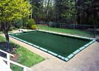 In ground pool WINTER COVER SUPREME rectangle 16 x 32 with tube holding straps
