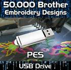 50000 Brother Babylock Bernina Deco Embroidery design files PES on USB drive