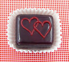 Hulet Glass Handmade Chocolate Treat with Double Cherry Hearts 14 015CH