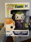 FUNKO FREDDY THE DARK KNIGHT JOKER pop vinyl #31 SDCC 2014 LE 96 EXCLUSIVE