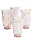 New Pink Set of 4 Pioneer Woman Tumblers Drinking 15 Ounce Glasses Serving Ware
