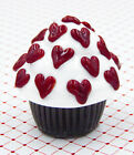 Hulet Glass Handmade Multi Hearts Mini Cupcake Truffle 27 231CW
