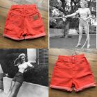 Vintage 1950s Wrangler Jean Shorts Red Womens Size XS