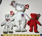 Ty Beanie Babies Lot of 3, Divine 2009, Flaky 2008, April 2002. Free Shipping.