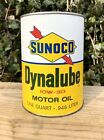 Vintage Sunoco Dynalube Sun Oil Philadelphia Pa  Quart Motor Oil Can Full Clean!