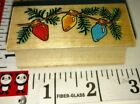 Holiday lights all night media907 wood rubber stamp