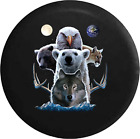 Spare Tire Cover Native American Spirit Animals Bear Wolf Eagle JK Accessories